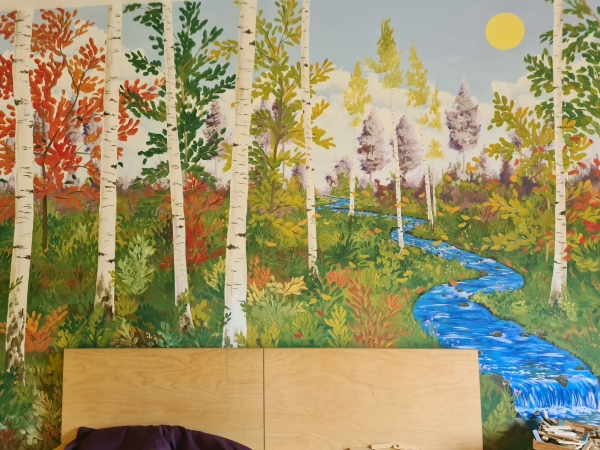 Unser tolles Wandbild im Hort-Ruheraum