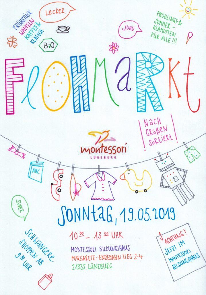 Plakat Montessori-Flohmarkt 19.05.2019