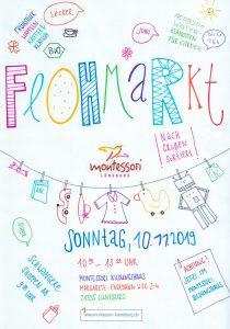 Plakat Montessori-Flohmarkt 10.11.2019