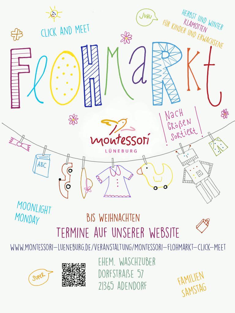 Montessori-Flohmarkt Lüneburg Herbst/Winter 2021 (Plakat)